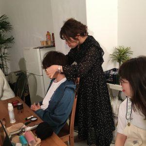 JINSメガネのヘアカタログ撮影